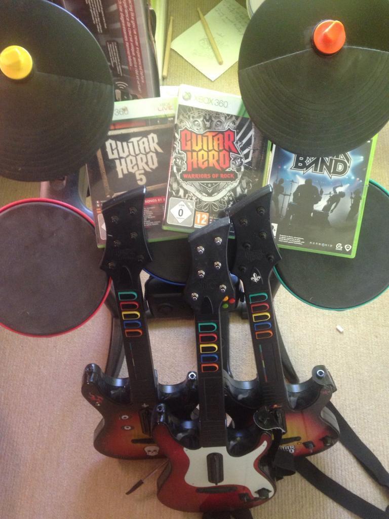 Guitar Hero 6 Warriors Of Rock Full Band Bundle (xbox 360