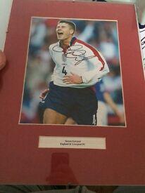 Steven Gerrard signed picture