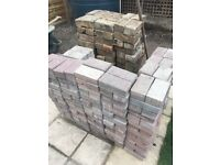 250 red key block bricks and about 100 old buff type bricks