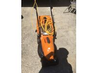 Orange lawnmower