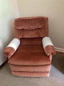 Teddy bear brown reclining chair
