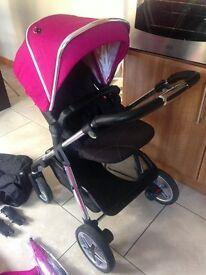Silvercross Pink Pioneer Pram and Pushchair travel system (Cost orginally £745)