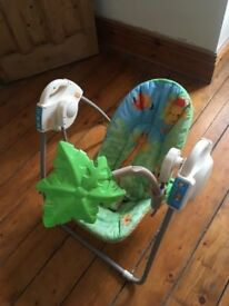 Baby swing for sale. Barely used. In great condition.