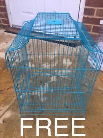 Blue wire bird cage