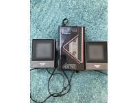 Retro -Sanyo radio cassette with speakers £18 bargain