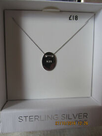 new next sterling silver necklace