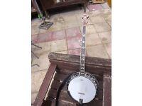 Pilgrim Burr walnut 5 string banjo