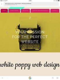 White poppy web design