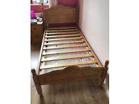 Single bed frame in pine
