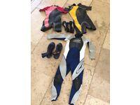 Children's wetsuits bundle