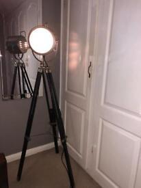 Vintage tripod studio floor lamp