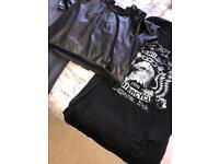 Size 14 black crop top and t shirt dress