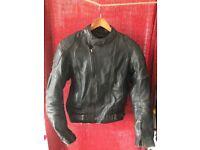 Vintage Leather Padded Jacket - Small - Used