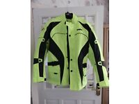 Motorcycle jacket,gents,hi-viz.