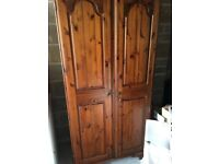 Large Double wardrobe with mirror cheap!