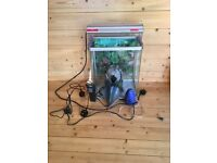 Fish Tank approx..45cmsH x 37cmsW x 25cmsD c/w Pumps and Accessories