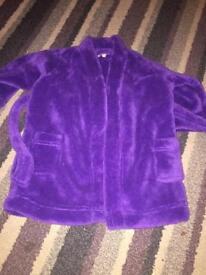 Baby Girls dressing gowns purple size 12-18 Months. Pink size 2-3 years