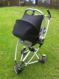 Quinny zapp push chair with maxi cosy and carry bag