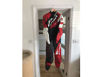 Motorcycle Dainese 2-Piece Leathers, Reinforced Shoulders, Arms & Knees, Size Medium, VGC