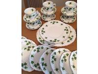 Colclough Ivy Leaf Bone China Tea set