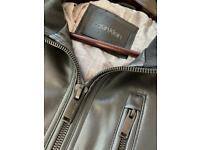 (1/3 of the original price)Brand new Calvin Klein Faux Leather Moto Full Zip Jacket Black (RRP$225)
