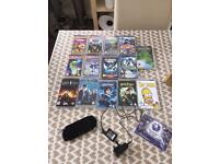 Sony psp with games and movies