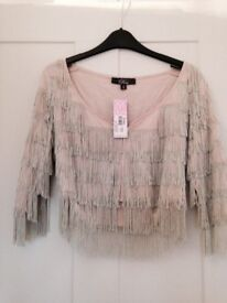 Rare from topshop fringe jacket new with tags