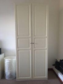 White tall Ikea wardrobes x2