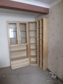 Cabinet with Glass doors and three drawers
