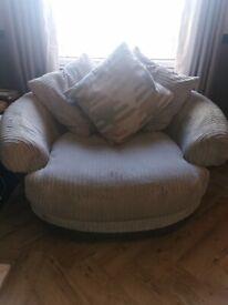 Corner Sofa and Cuddle Chair