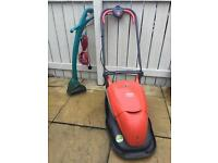 Flymo Lawnmower and Bosch Strimmer