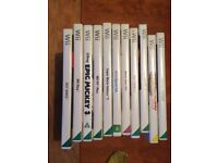 Nintendo white Wii, lots of games, accessories