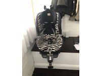 Britax King Plus Car Seat - Zebra