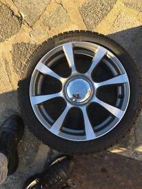 Abarth Fiat 5oo sport 16inch Alloy wheel winter Tryes 51830198 Perelli snow control 195/45/R16