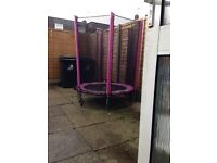 Pink small trampoline
