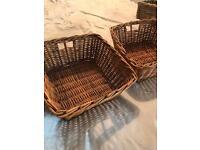 Medium sized wicker baskets