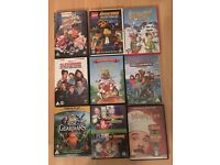 9 various kids dvds