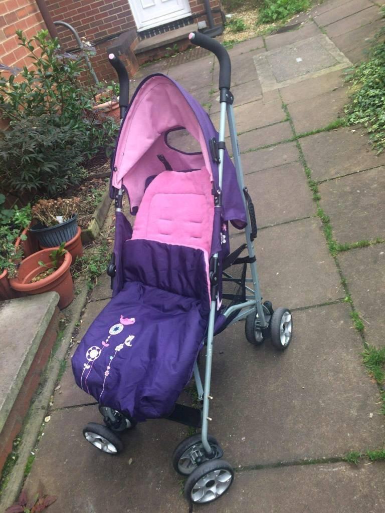 Purple and pink Zen baby stroller