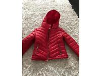 Red coat size 8 :nearly new
