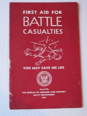 Scarce 1943 WWII Navy First Aid For Battle Casualties Medical Guide Booklet (Navy Start Guide)