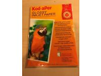 Kod-aPer Glossy Inkjet Paper A4 25 sheets Brand New in Packaging