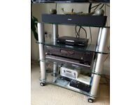 4 Shelf Tempered Glass Hi-Fi Rack - Thick glass improves the sound of your Hi-Fi