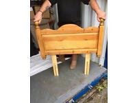 Pine single bed headboard
