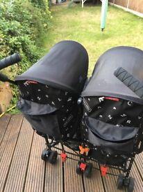 Maclaren twin triumph stroller buggy