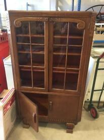Vintage antique Deco style home book case cabinet original glass panels SDHC *SOLD*