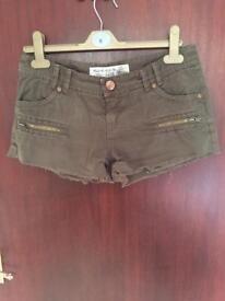 Khaki shorts new look size 8