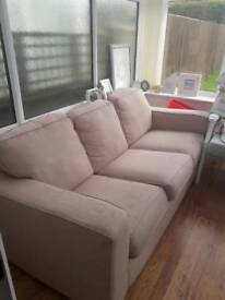 DFS 3 seater sofa in stone/beige colour Reduced to £35