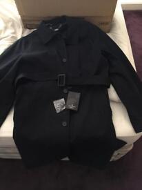 Jeff Banks London Black Raincoat Size 42 Regular