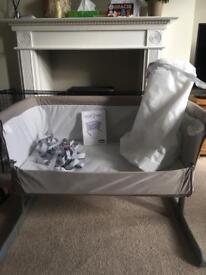 Chicco Next 2 Me bedside crib - dove grey