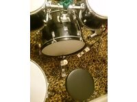 Peformance Percussion Drum Kit - Excellent Condition. Includes, stool and 3 sets of drum sticks